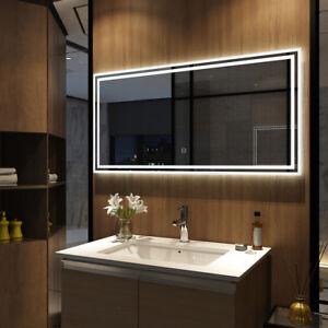 Details zu Badspiegel Led Spiegel mit Beleuchtung Touch Licht  Badezimmerspiegel Wandspiegel