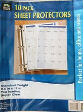 Standard Weight Top Loading Sheet Protectors 10pack