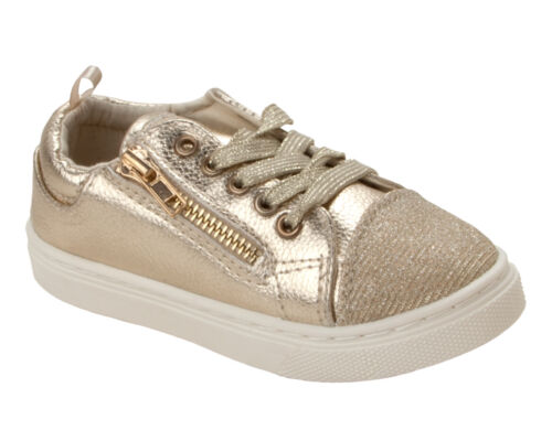 GIRLS PATENT BUTTERFLY GLITTER LACE UP PUMPS ZIP SKATE TRAINERS SHOES SIZE 9-1
