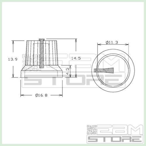 Manopola GIALLA potenziometro potenziometri pressione ART V003