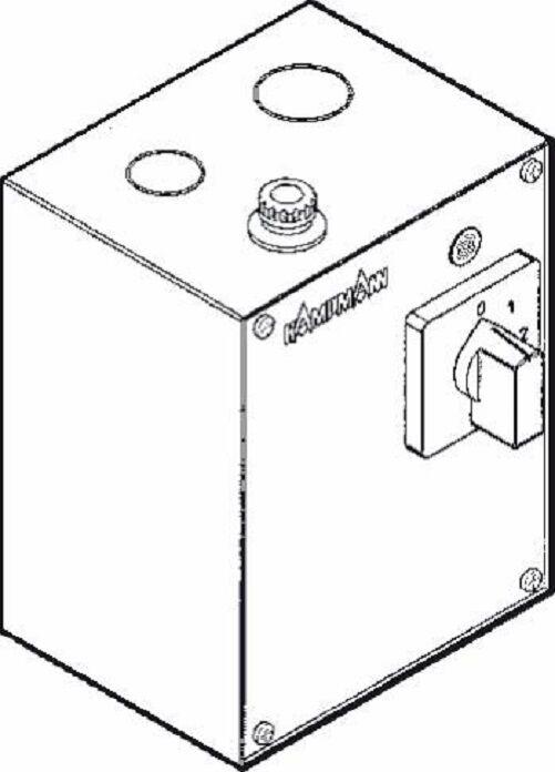 Kampmann 2 Stufen Drehstrom Schalter als Typ: 30049 30049 30049 für Luftheizer 3cc9cb