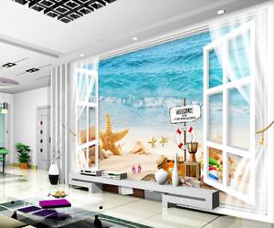 3D Travel Sea Beach 74 Wall Paper Murals Wall Print Wall Wallpaper Mural AU Kyra