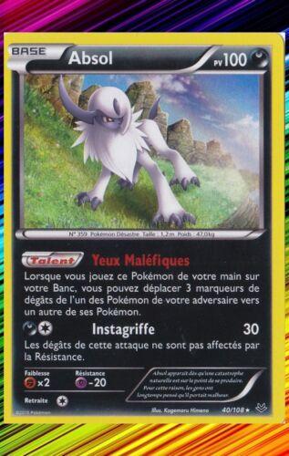 XY6:Ciel Rugissant Absol Holo Carte Pokemon Neuve Française 40//108