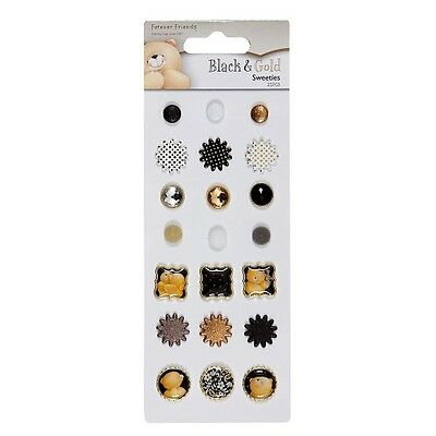21 Brads Sweeties Black & Gold aus der Serie forever friends Bär