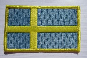 Schweden-Sweden-Flagge-Aufnaeher-Patch-5-x-8-cm-NEU-A54v