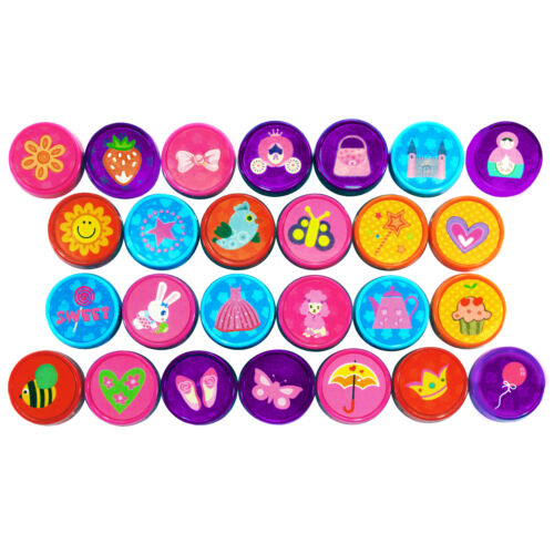 Mädchen Stempel Selbstfärbend Kindergeburtstag Prinzessin Stempelset 26 Stück