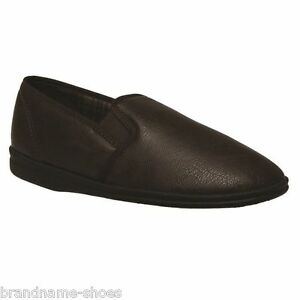 MENS-GROSBY-STERLING-COMFORTABLE-BROWN-SLIPPERS-MOCCASINS-LOAFERS-NIGHT-SHOES