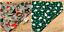 Handmade-CHRISTMAS-DOG-BANDANA-REVERSIBLE-SLOT-TOP-Neckerchief-PRESENTS thumbnail 4