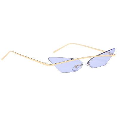 Rétro petites lunettes de soleil yeux de chat étroites monture en métal   eBay