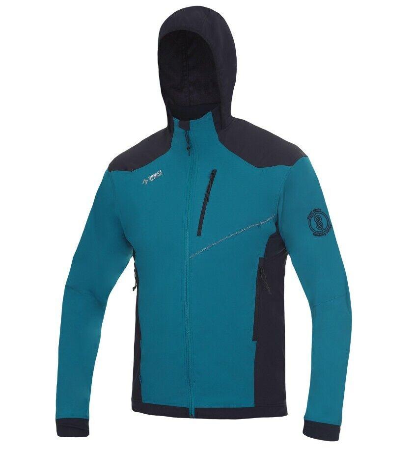 Direct Alpine Tacul Jacket Men ligero Softshell con capucha para caballeros petrol