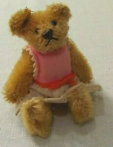 Antique-Miniature-Steiff-3-1-2-034-Yellow-Mohair-Jointed-Teddy-Bear