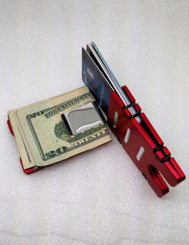 RFID Protection AMERICAN FLAG red Billet Aluminum Wallet//Credit Card Holder
