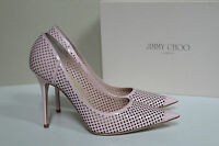 Jimmy Choo Abel Perforated Pink Patent Leather Classic Pump Shoes 9.5 / 39.5
