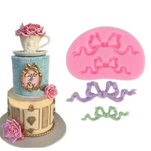 Bow-Ribbon-Silicone-Fondant-Mold-Cake-Border-Decoration-Sugar-Paste-Mould-Tool