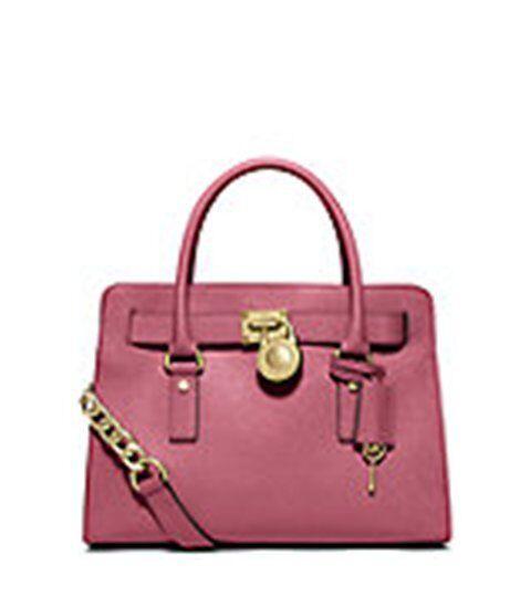michael kors saffiano leather tulip hamilton ew satchel tote purse rh ebay com