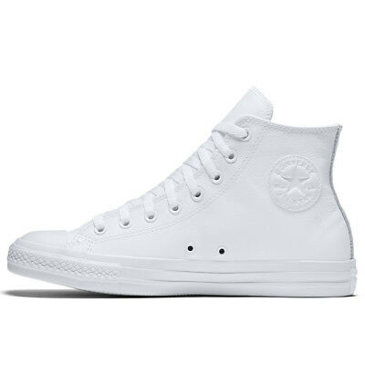 buying now nice shoes classic style New Converse white monochrome leather high tops womens Size 7 | eBay