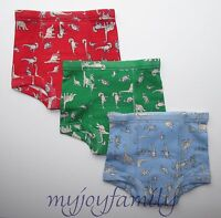 HANNA ANDERSSON Organic Training Unders Underwear Dino XS 80 90 18-24 2T 3T WT