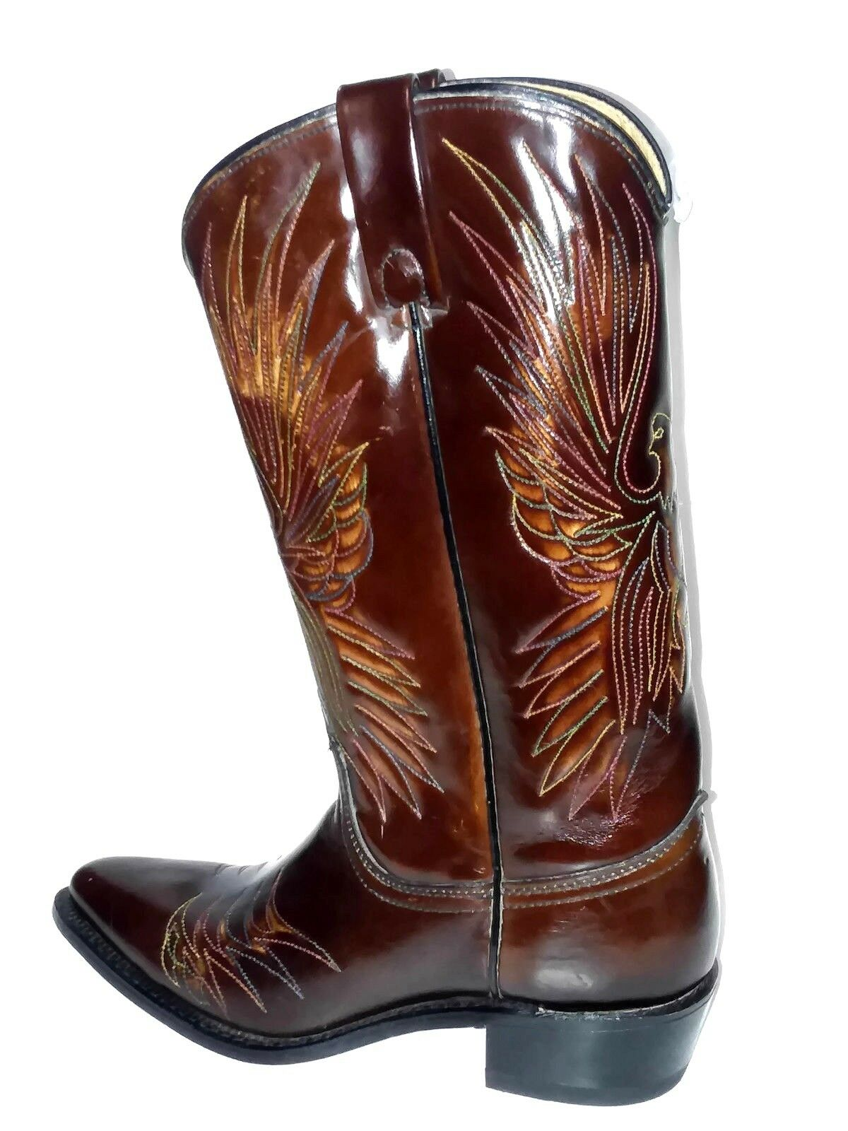 Acme Womens Vintage Burgundy Leather Western Cowboy Boots Size 5 1 2 C