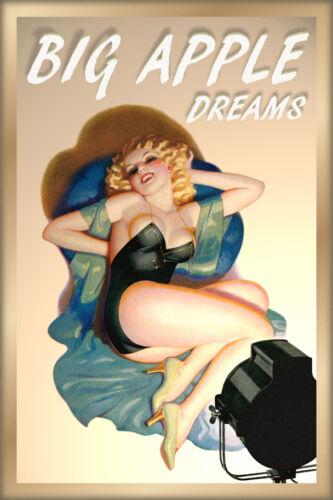 BIG APPLE New York Broadway Theater Show Biz Blonde Pin Up Poster Art Print 248