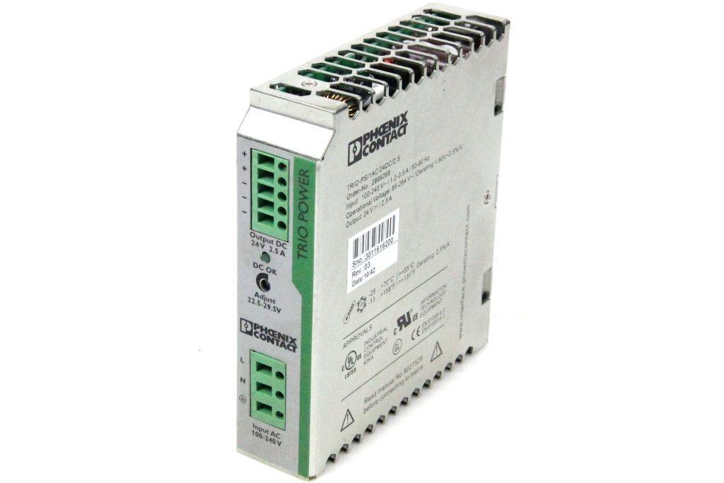 PHOENIX Netzteil TRIO-PS 1AC 24DC 2.5 Stromversorgung 2866268 Power Supply