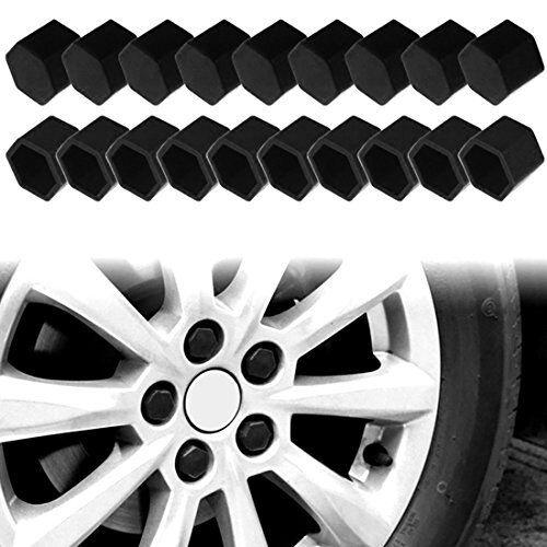 Universale 20x 17mm Silicone Bulloni Ruota Cappuccio Viti per Ruote Cappelli Set