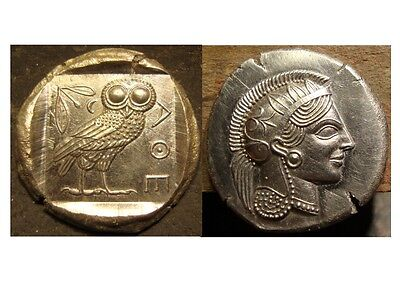 Tetradrachme D'athéna Repro Copy Coins & Paper Money