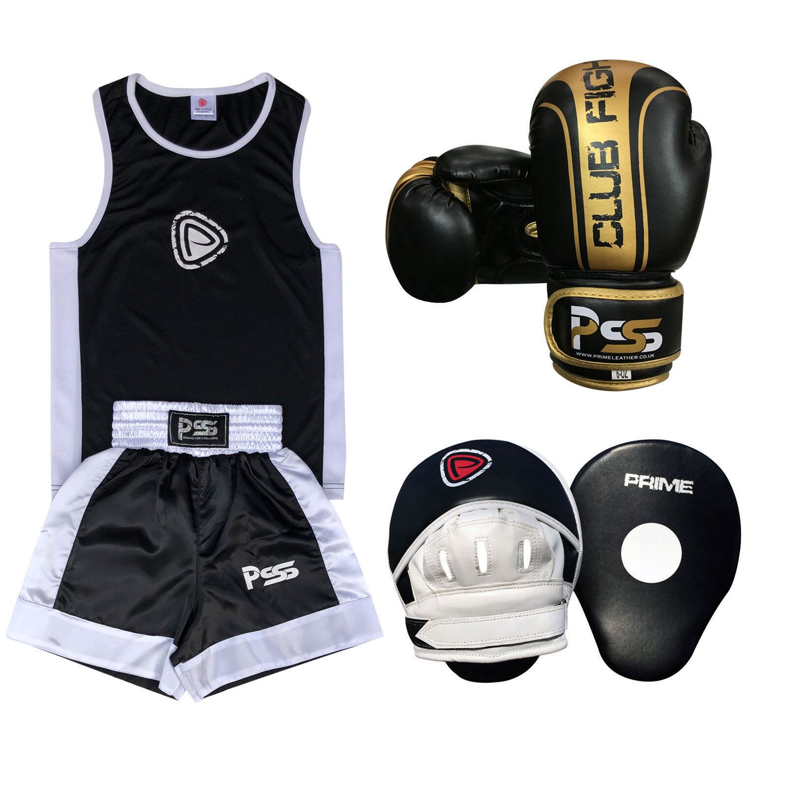 Kids Boxing Uniform Set 3 3 3 PCS Uniform Boxing Gloves 1006 Focus Pads 1102 SET-18 663ba2