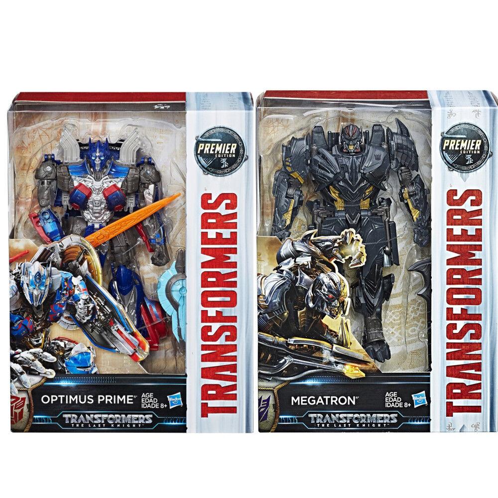 Transformers Last Knight Premier Edition Voyager Optimus + Megatron NEW