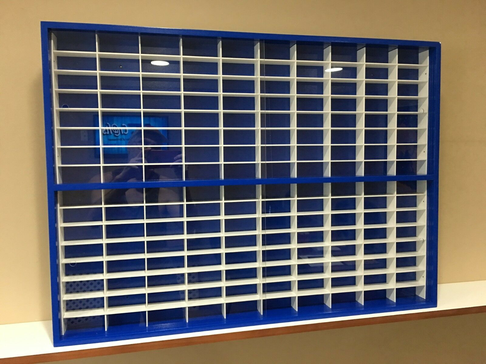 Display case cabinet for 1 64 diecast scale cars (hot wheels, matchbox) 160NBW-9