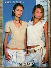 Sirdar-... Sirdar Ladies /& Girls Tops Beachcomber Knitting Pattern 7284 DK