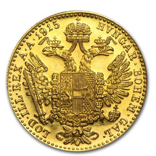 SKU #14772 1915 Austria Gold 1 Ducat BU Prooflike