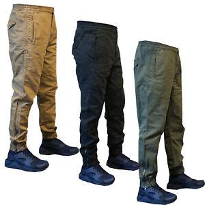 Homme-Nouveau-Elastique-Pantalon-Chino-Jeans-Coupe-Slim-Coton-Pantalon-De-Survetement-Pantalon-30-42