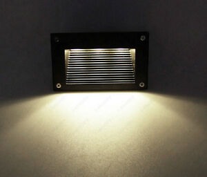3w led outdoor wall light step stairs lamp fixture junction box yard