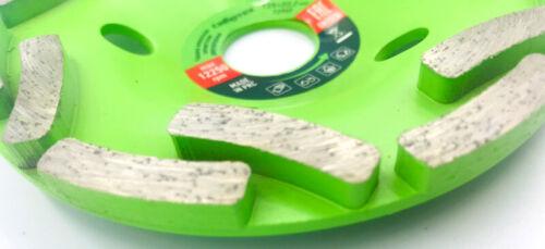 Topfscheibe Betonschleifer Schliefteller Diamant-Schleiftopf 125mm