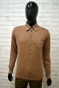Polo-Uomo-DATCH-Taglia-Size-M-Maglietta-Shirt-Man-Camicia-Cotone-Marrone-Maglia