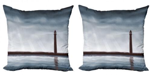 Leuchtturm 2 Teiliges Kissenbezugs Set Unterwasserwelt-Thema
