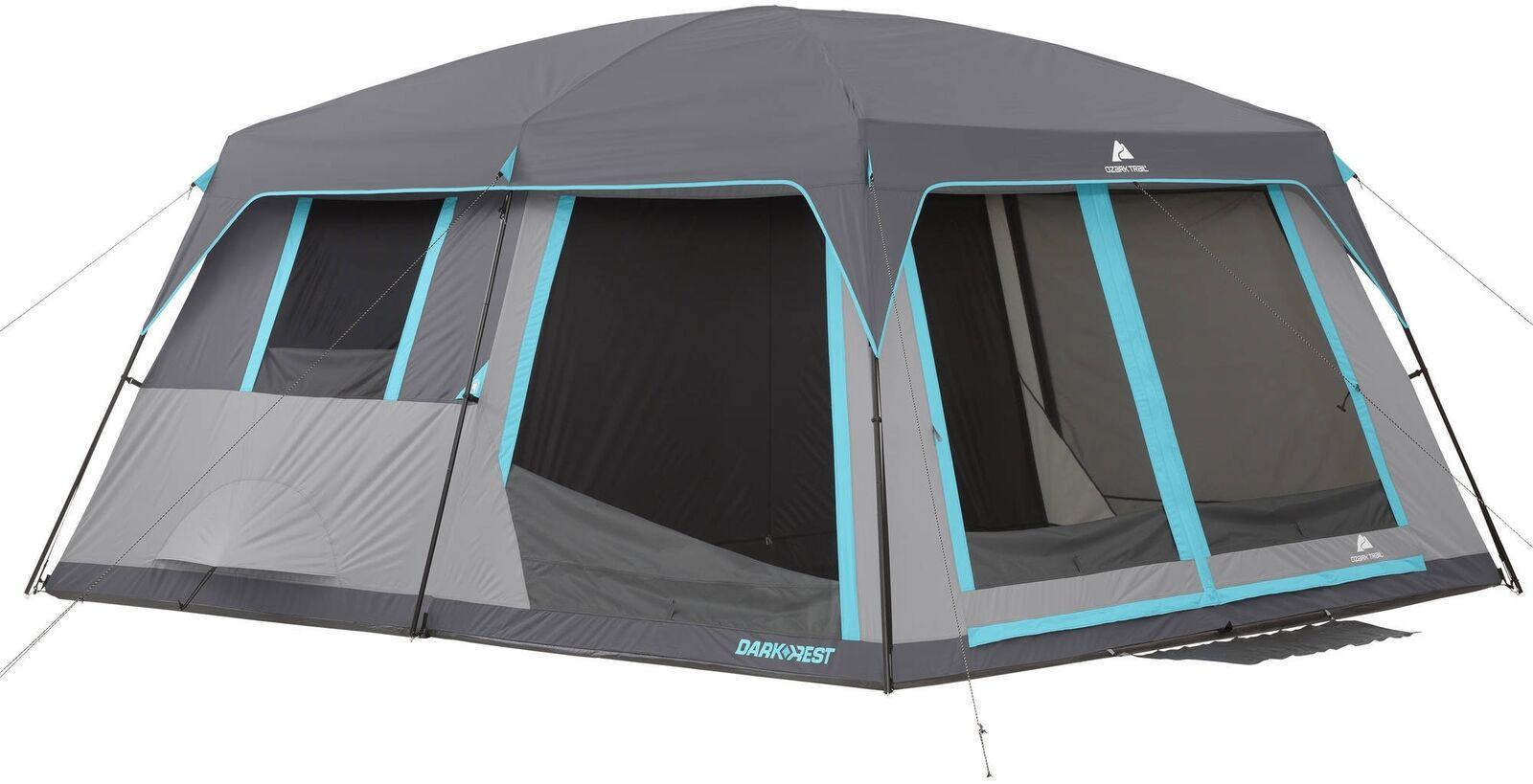 Ozark Trail Half Dark Dark Dark Rest Frp Cabin Tent Polyester BuiltIn Room 12 Person a50fee