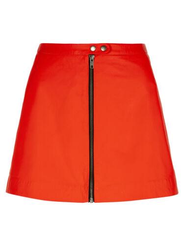 Uk Rrp 10 Leather Seema M0561 £225 Flame Skirt Muubaa xq7C0STwx