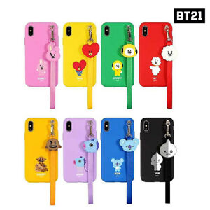 BTS-BT21-Official-Authentic-Goods-Strap-Phone-Case-CHIMY-COOKY-TATA-KOYA-RJ-Etc