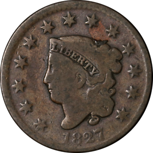 1827 Large Cent N.11 R.1 Great Deals From The Executive Coin Company