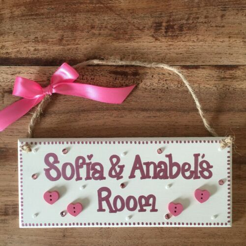 PERSONALISED CHILDRENS SHARED ROOM GIRLS// BOYS TWINS NAME DOOR WALL PLAQUE SIGN