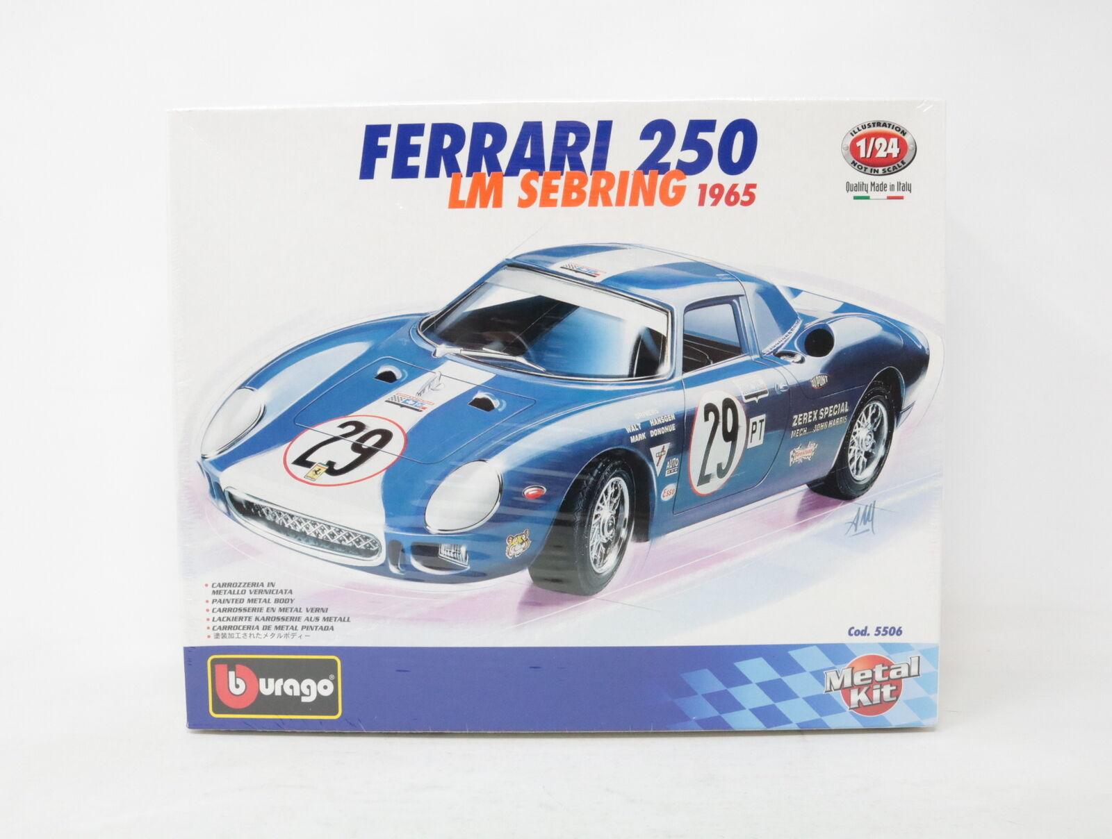 1 24 BBURAGO METAL KIT FERRARI 250 LM SEBRING 1965 cod. 5506  [XQ009]