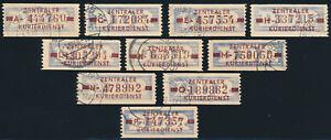 DDR-Dienst-B-20-Lot-10-Stueck-verschiedene-Buchstaben-gestempelt-Mi-170