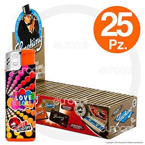 Cartine SMOKING ORO CORTE DOPPIE Gold scatola 25 pz 1 Box