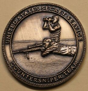 Details about US Secret Service Counter Sniper Team (Silver Toned Version)  Challenge Coin