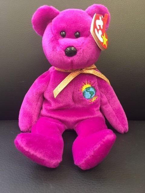 Original Ty Beanie Baby Millennium  Purple NWT