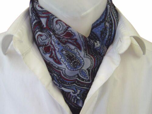 Krawatte Seidentuch Herrenschal Seide Seidenschal Herrentuch Krawattenschal blau