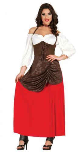 Costume da locandiera medievale popolana pastorella