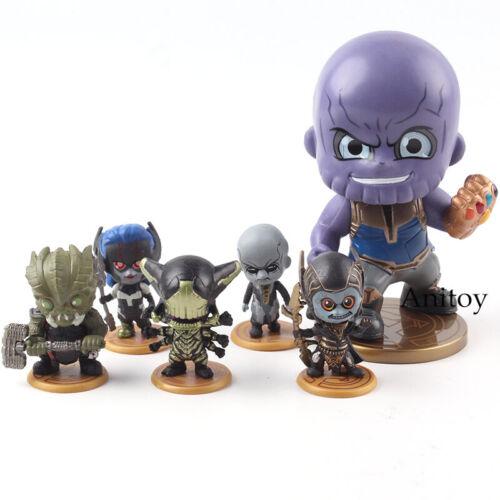 Marvel Avengers Infinity War Thanos Black Order Team PVC Figure Model Toy