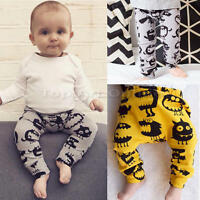 Toddler Baby Kids Boy Girls Trouser Harem PP Leggings Pants Tights 0-24Months